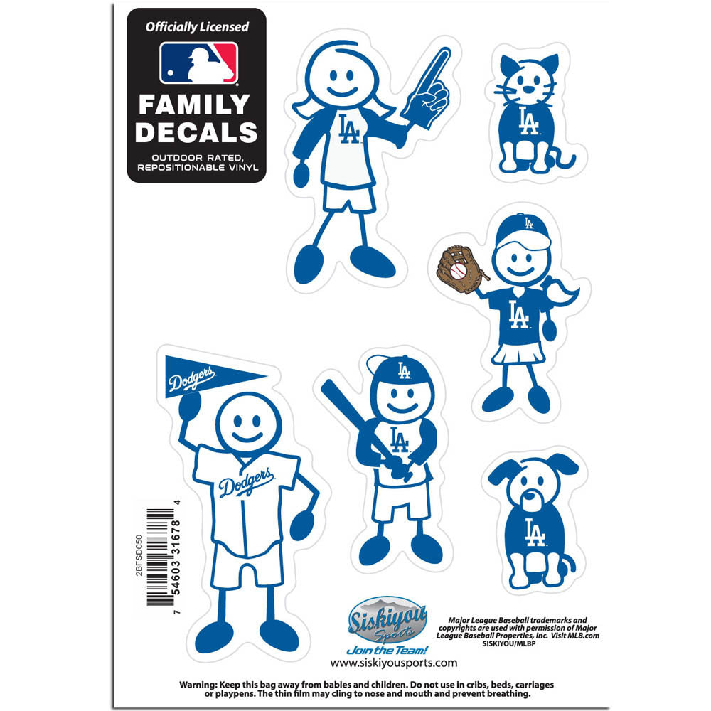 Los Angeles Dodgers Family Decal Set Small