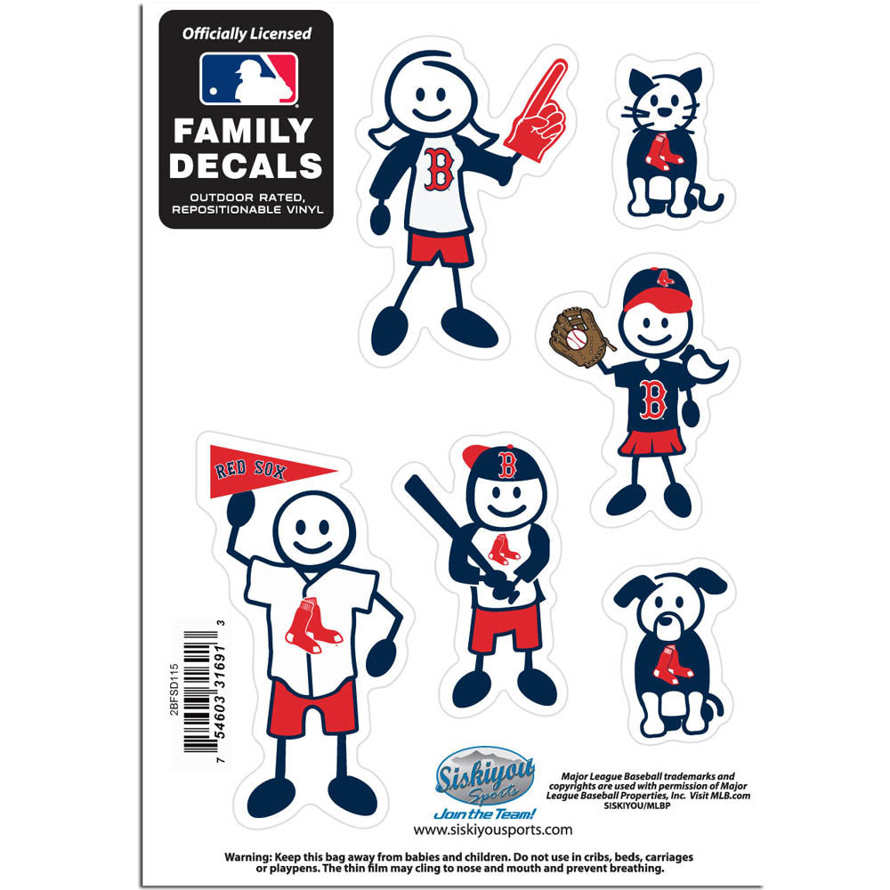 Boston Red Sox Family Decal Set Small