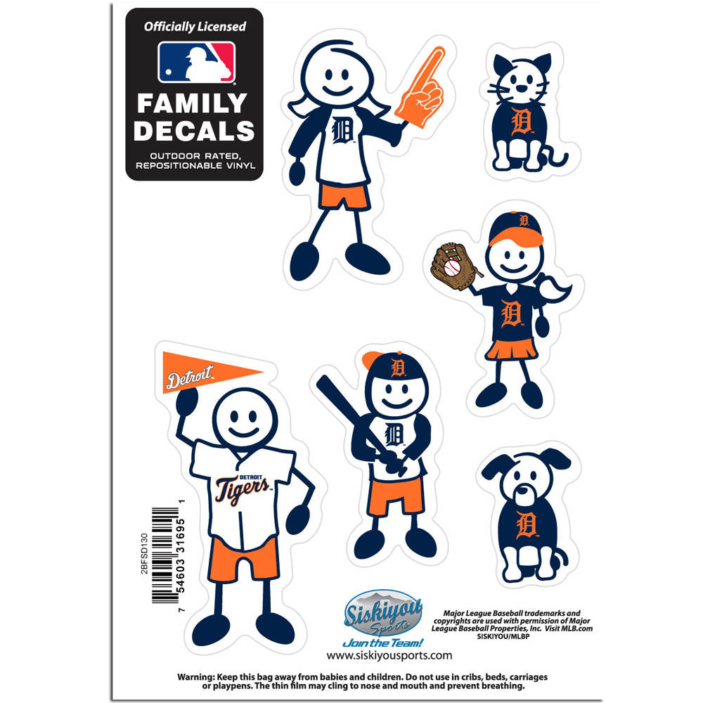 Detroit Tigers Family Decal Set Small