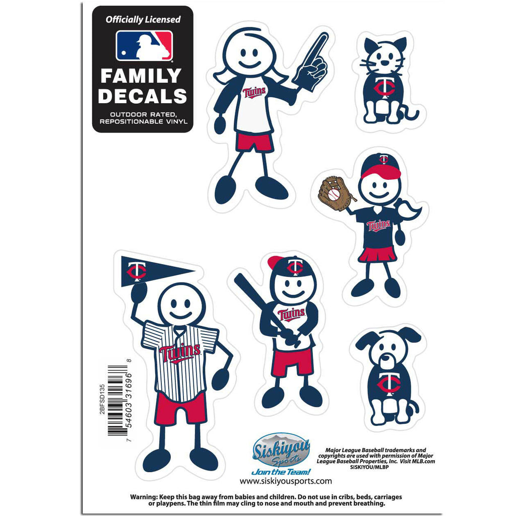 Minnesota Twins Family Decal Set Small