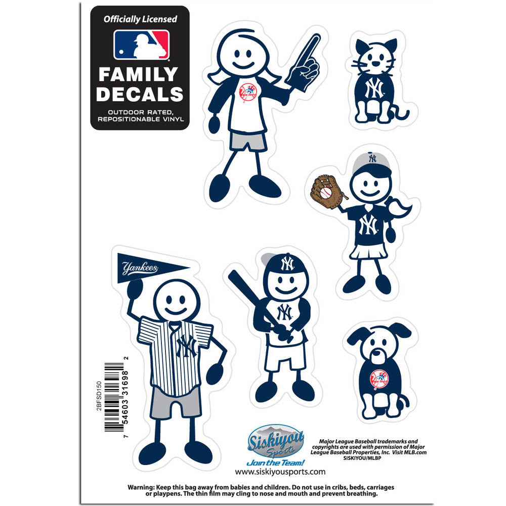 New York Yankees Family Decal Set Small