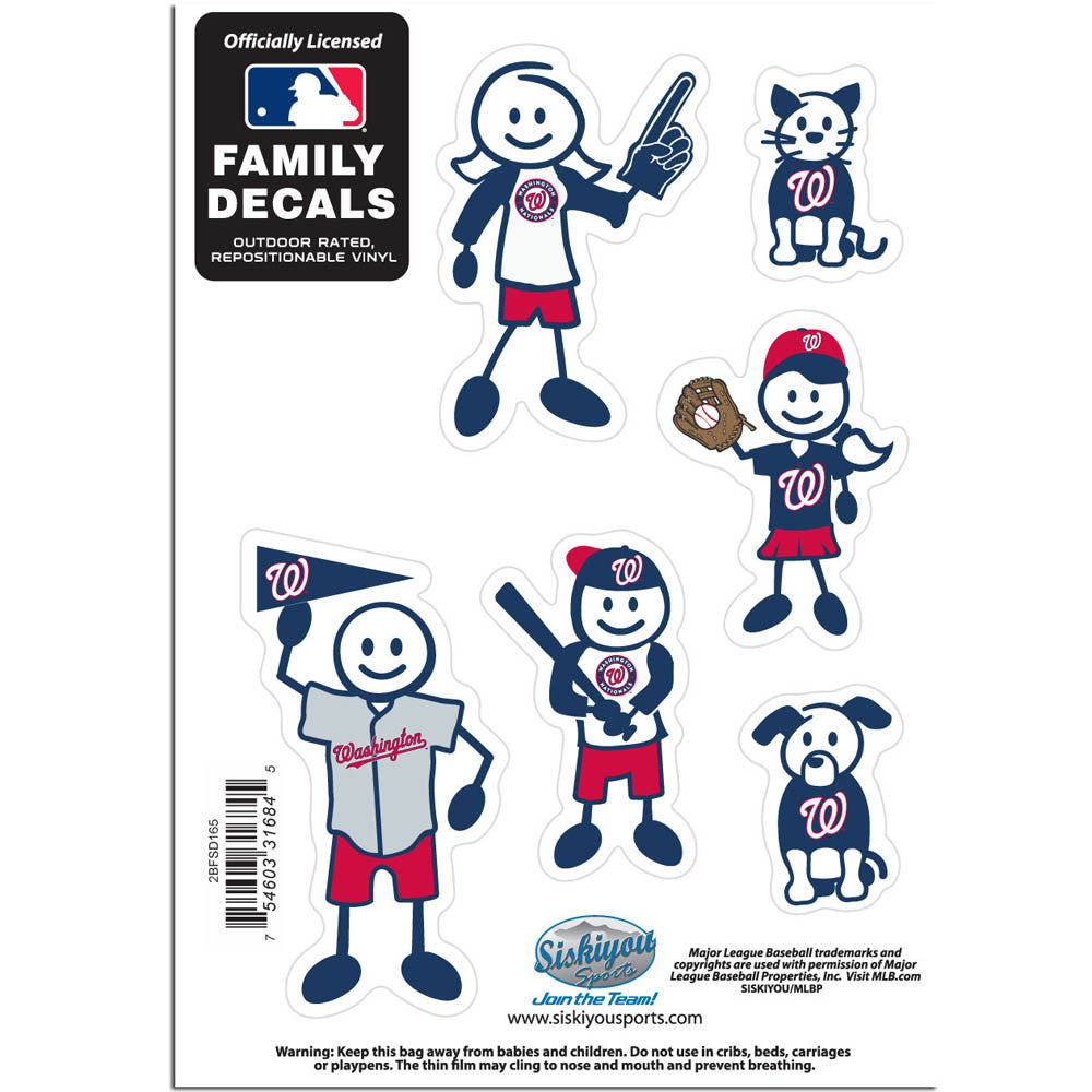 Washington Nationals Family Decal Set Small