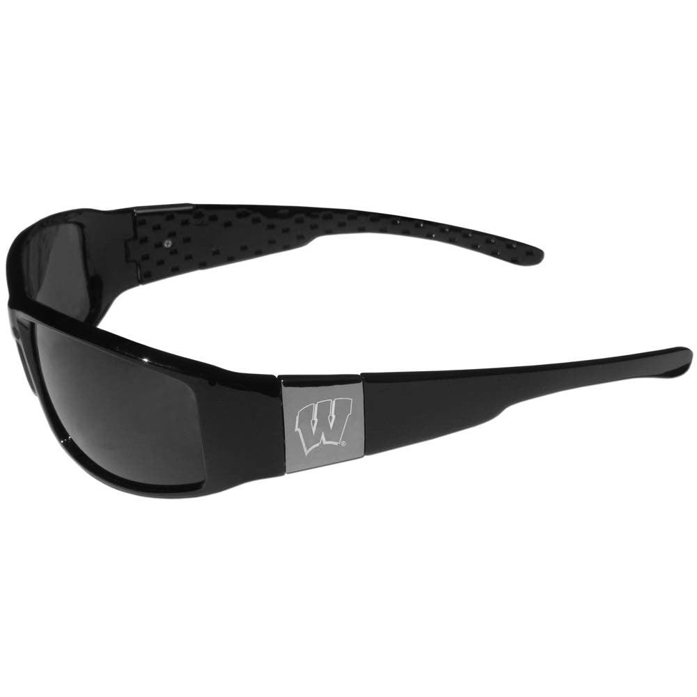 Wisconsin Badgers Chrome Wrap Sunglasses