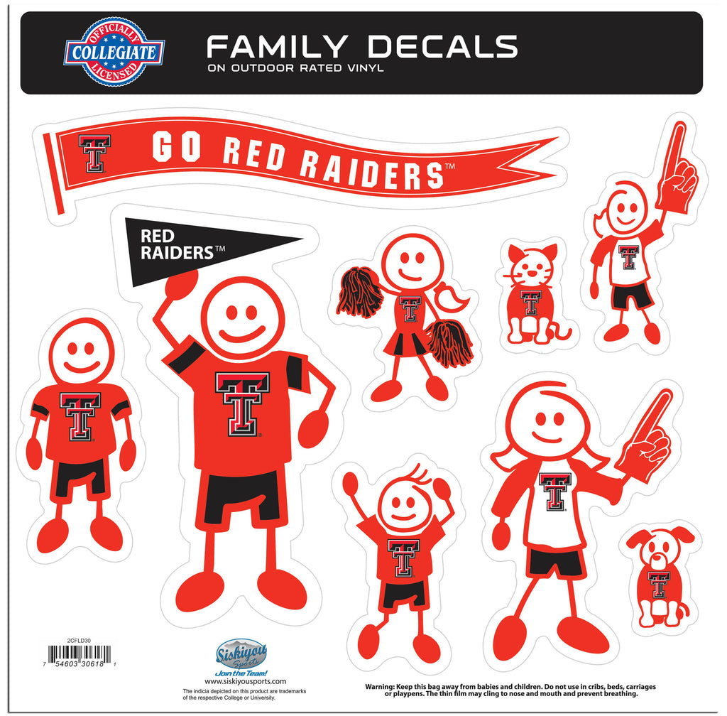 Texas Tech Raiders Family Decal Set Large