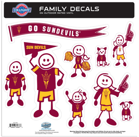 Arizona St. Sun Devils Family Decal Set Large
