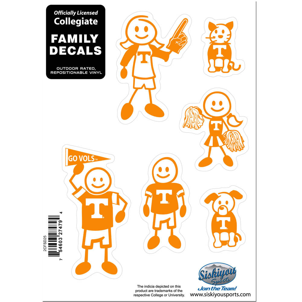 Tennessee Volunteers Family Decal Set Small