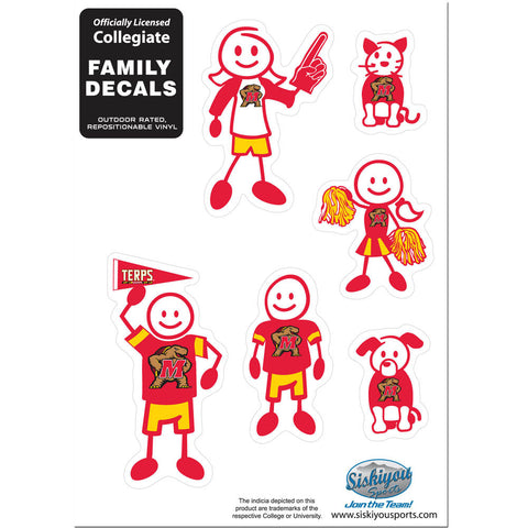 Maryland Terrapins Family Decal Set Small