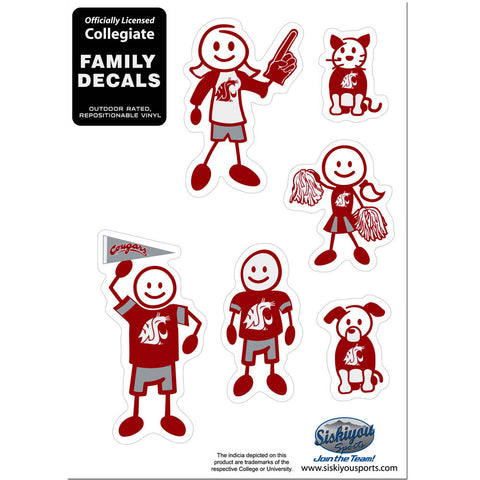 Washington St. Cougars Family Decal Set Small