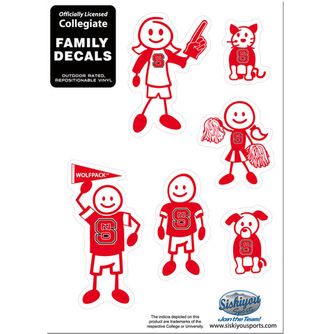 N. Carolina St. Wolfpack Family Decal Set Small