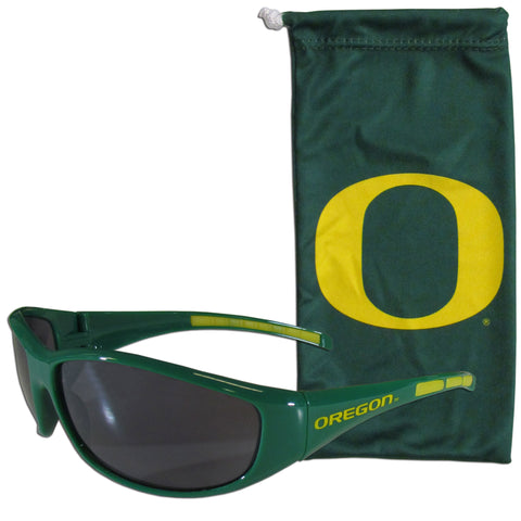 Oregon Ducks Sunglass and Bag Set