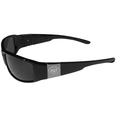 New York Jets Chrome Wrap Sunglasses
