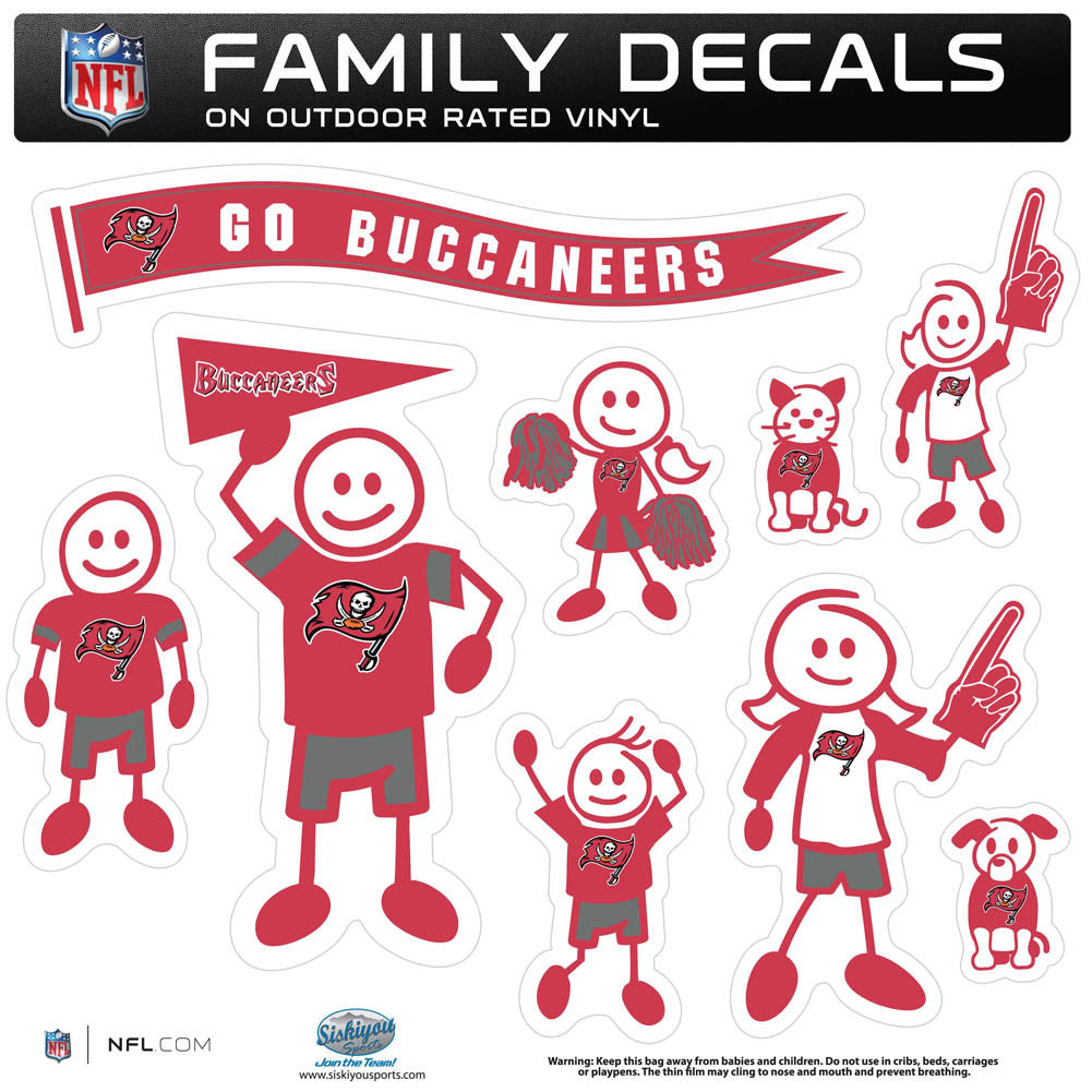 Tampa Bay Buccaneers Family Decal Set Large