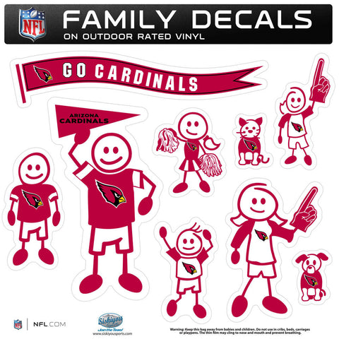 Arizona Cardinals Family Decal Set Large