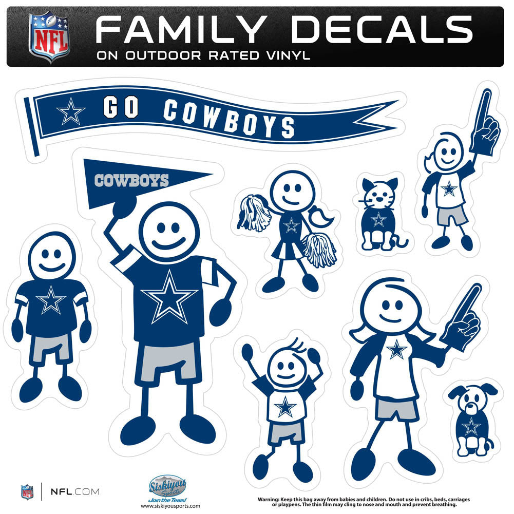 Dallas Cowboys Family Decal Set Large