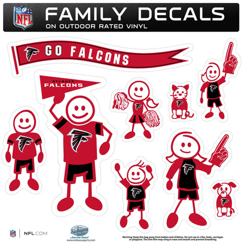 Atlanta Falcons Family Decal Set Large