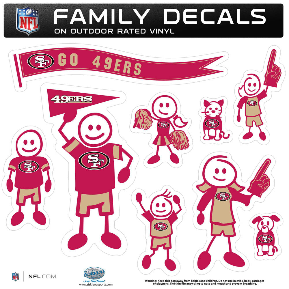 San Francisco 49ers Family Decal Set Large