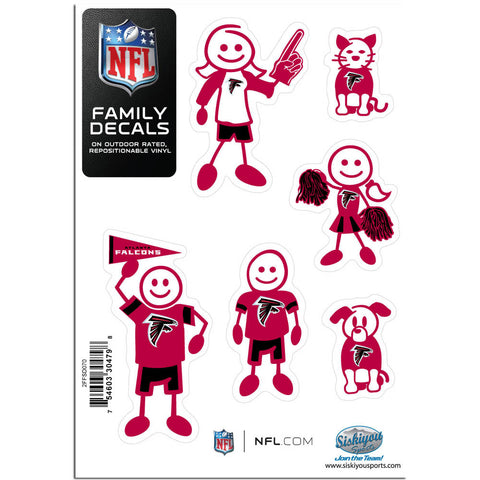 Atlanta Falcons Family Decal Set Small