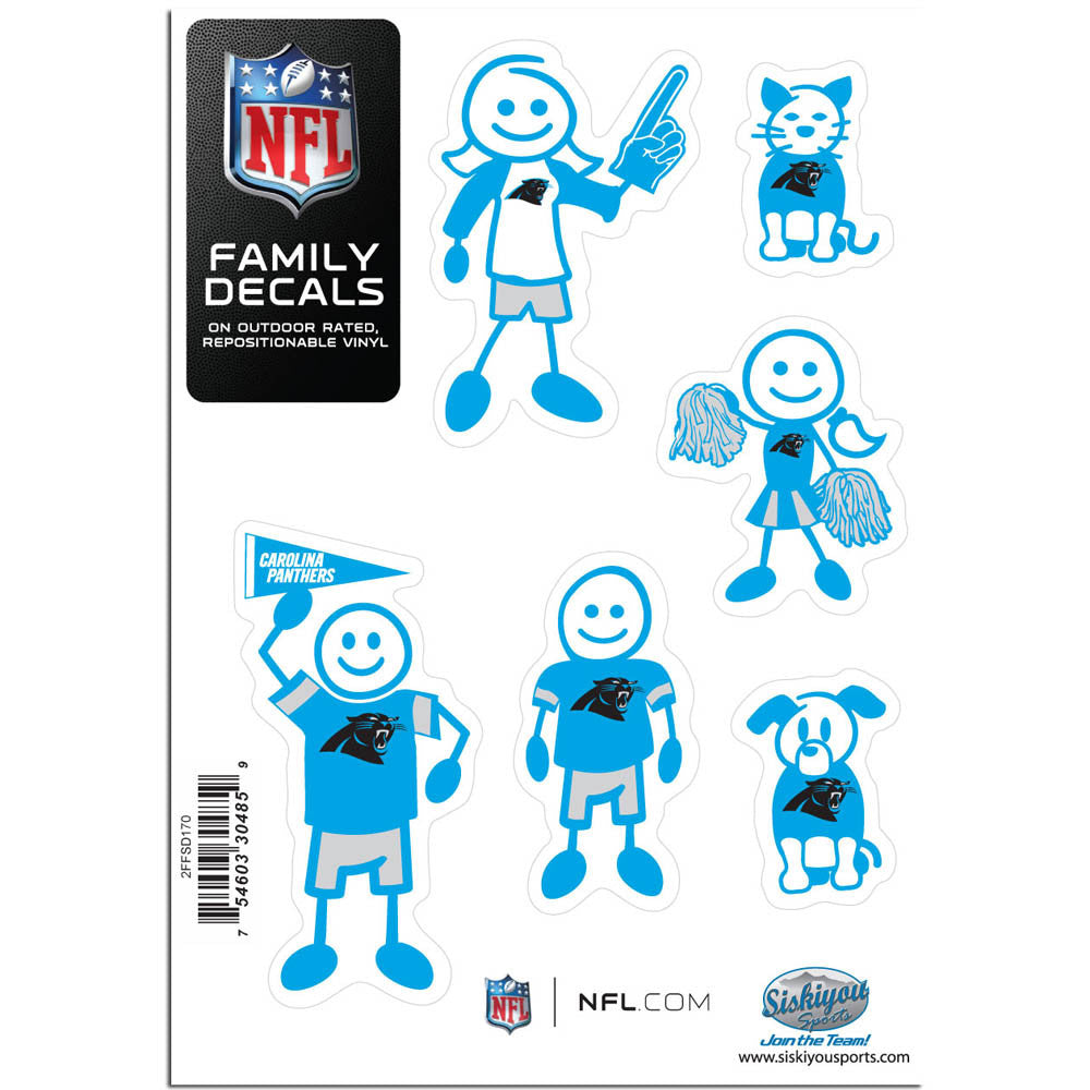 Carolina Panthers Family Decal Set Small