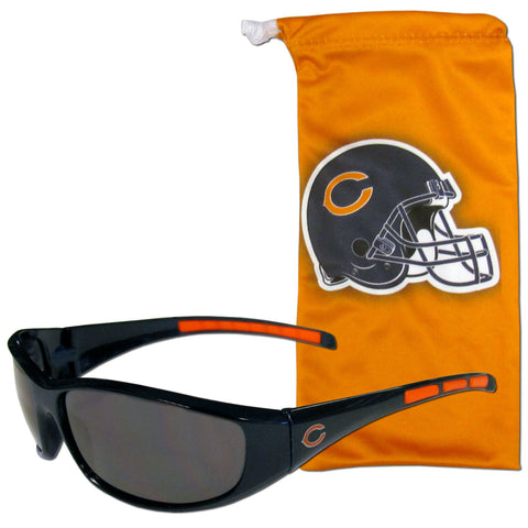 Chicago Bears Sunglass and Bag Set