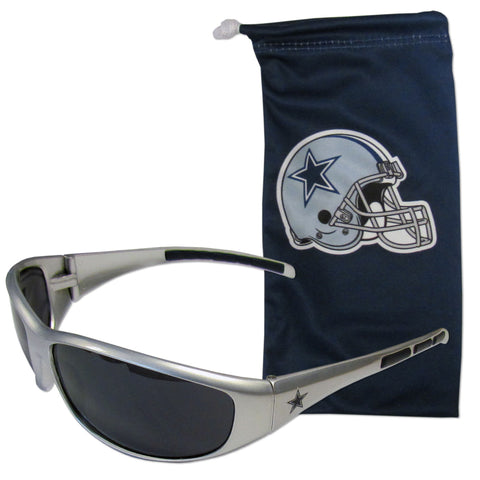 Dallas Cowboys Sunglass and Bag Set