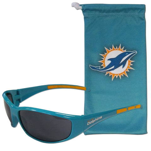 Miami Dolphins Sunglass and Bag Set