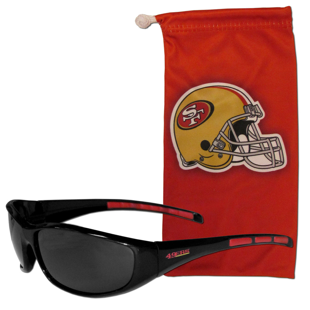 San Francisco 49ers Sunglass and Bag Set