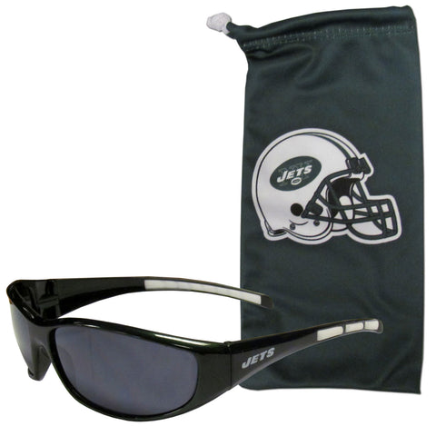 New York Jets Sunglass and Bag Set