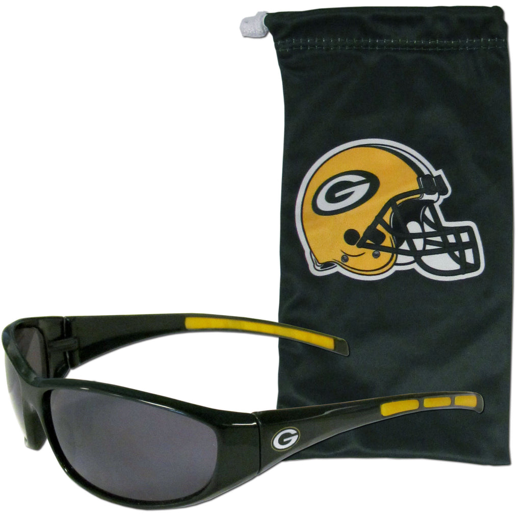 Green Bay Packers Sunglass and Bag Set