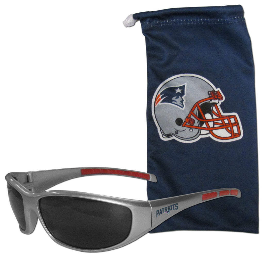 New England Patriots Sunglass and Bag Set