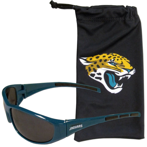 Jacksonville Jaguars Sunglass and Bag Set