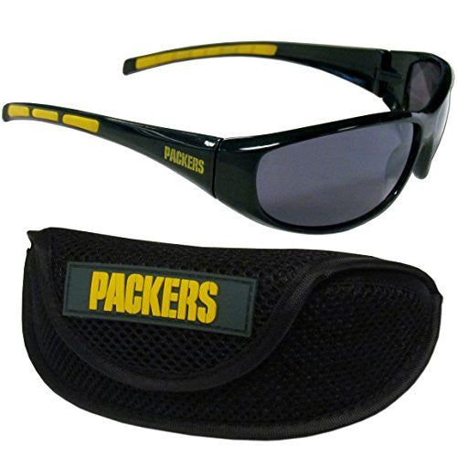 Green Bay Packers Wrap Sunglass and Case Set