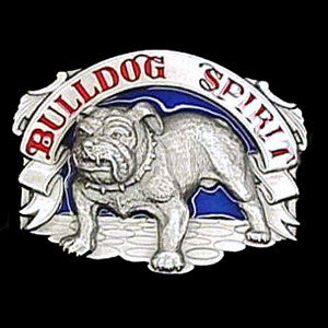 Bulldog Spirit Enameled Belt Buckle