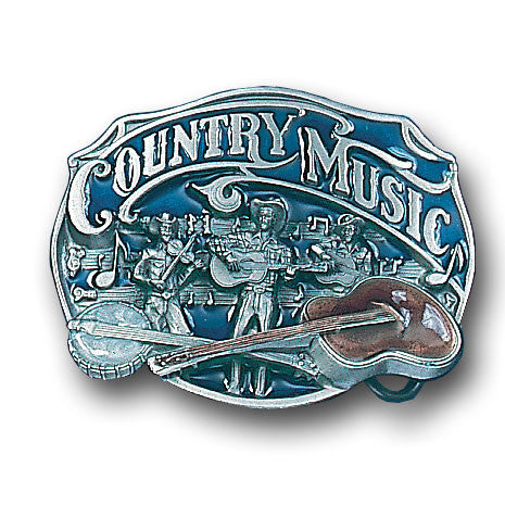 Country Music  Enameled Belt Buckle