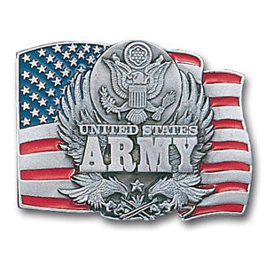 Army Enameled Belt Buckle - B92E
