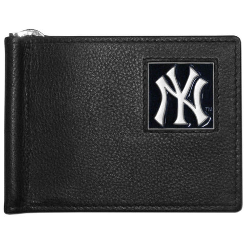 New York Yankees Leather Bill Clip Wallet