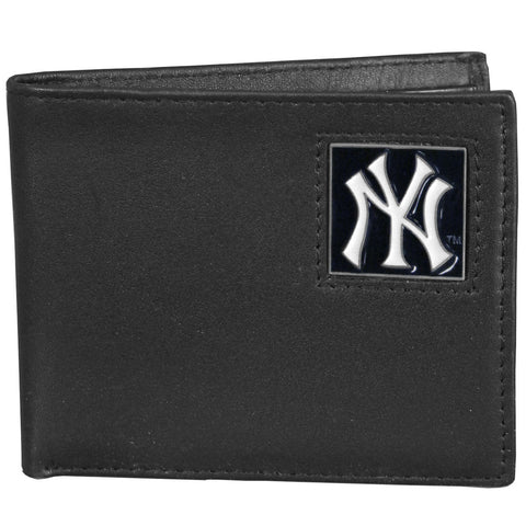 New York Yankees Leather Bi-fold Wallet Packaged in Gift Box