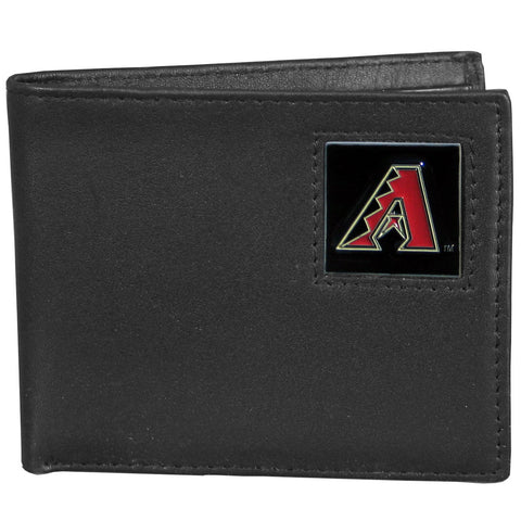 Arizona Diamondbacks Leather Bi-fold Wallet Packaged in Gift Box
