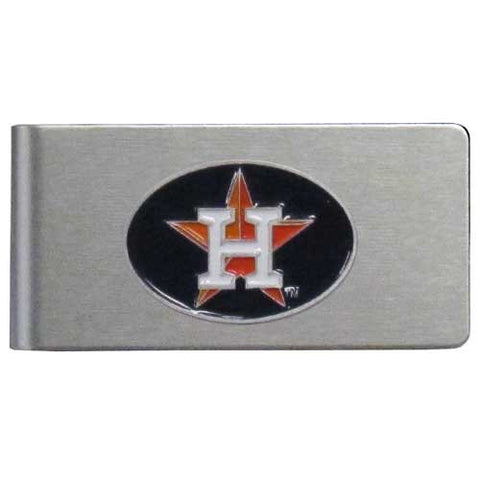 Houston Astros Brushed Metal Money Clip