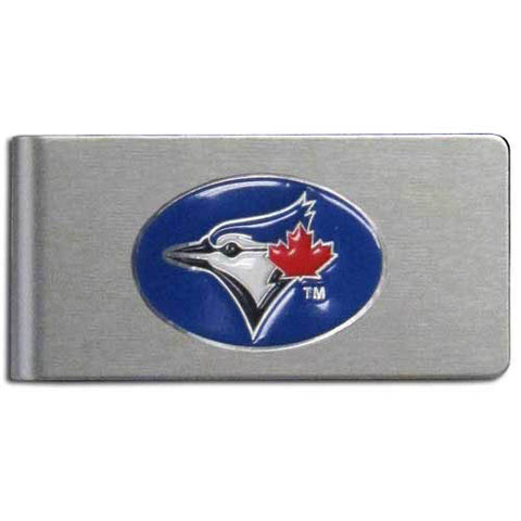 Toronto Blue Jays Brushed Metal Money Clip