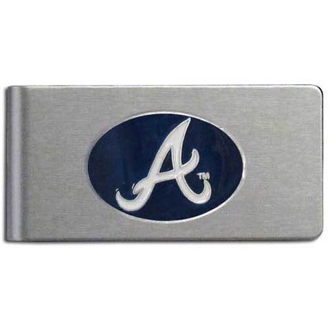 Atlanta Braves Brushed Metal Money Clip