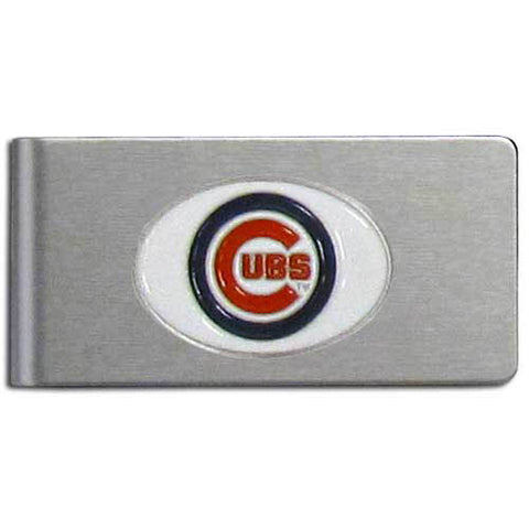 Chicago Cubs Brushed Metal Money Clip