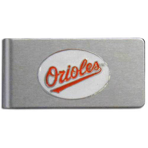 Baltimore Orioles Brushed Metal Money Clip
