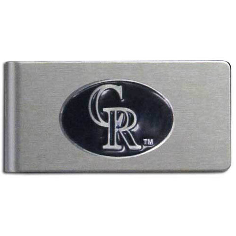Colorado Rockies Brushed Metal Money Clip