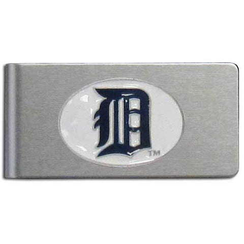 Detroit Tigers Brushed Metal Money Clip