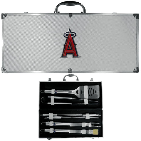 Los Angeles Angels of Anaheim 8 pc Stainless Steel BBQ Set w/Metal Case