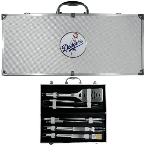 Los Angeles Dodgers 8 pc Stainless Steel BBQ Set w/Metal Case