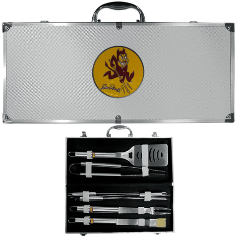 Arizona St. Sun Devils 8 pc Stainless Steel BBQ Set w/Metal Case