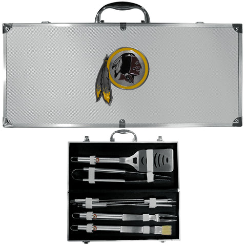 Washington Redskins 8 pc Stainless Steel BBQ Set w/Metal Case