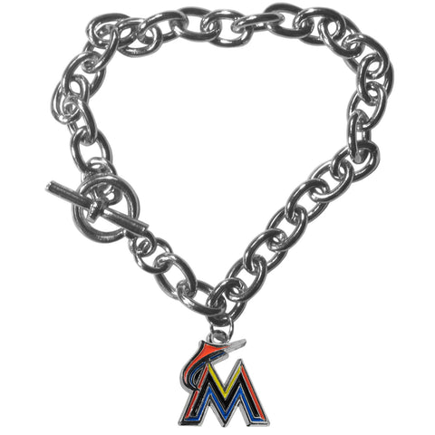 Miami Marlins Charm Chain Bracelet