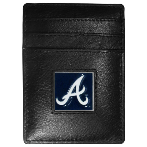 Atlanta Braves Leather Money Clip/Cardholder Packaged in Gift Box